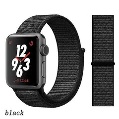 Apple Watch Band 2 Series 42mm Nylon Soft Breathable Sport Loop Black-CoolDesignOnline