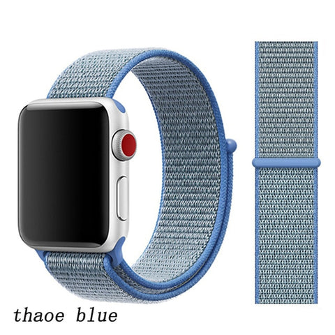 Apple Watch Band 4 Series 44mm Nylon Breathable Sport Loop Thaoe Blue-CoolDesignOnline