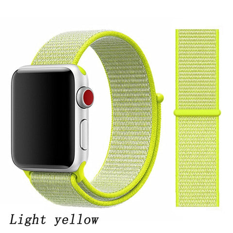 Apple Watch Band 1 Series 38mm Nylon Sport Loop Light Yellow-CoolDesignOnline