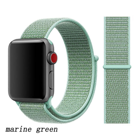 Apple Watch Band 1 Series 38mm Nylon Sport Loop Marine Green-CoolDesignOnline