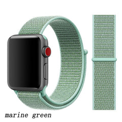 Apple Watch Band 2 Series 42mm Nylon Sport Loop Marine Green-CoolDesignOnline