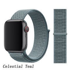 Apple Watch Band 3 Series 38mm Nylon Sport Loop Celestial Teal-CoolDesignOnline