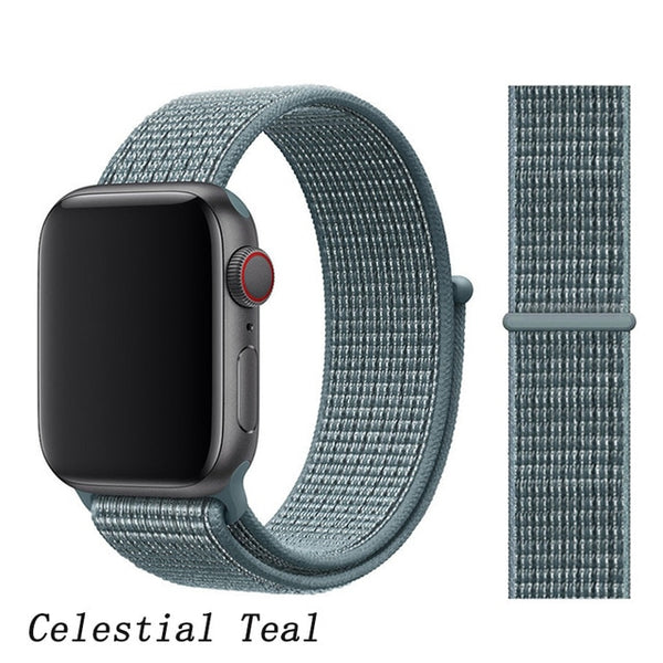 Apple Watch Band 2 Series 42mm Nylon Sport Loop Celestial Teal-CoolDesignOnline