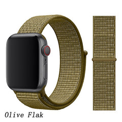 Apple Watch Band 3 Series 42mm Nylon Breathable Sport Loop Olive Flak-CoolDesignOnline