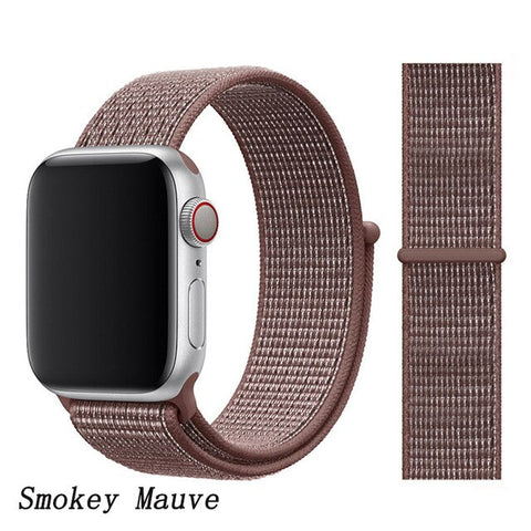 Apple Watch Band 1 Series 38mm Nylon Sport Loop Smokey Mauve-CoolDesignOnline