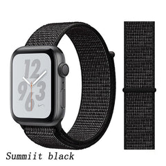 Apple Watch Band 2 Series 42mm Nylon Breathable Sport Loop Summiit Black-CoolDesignOnline