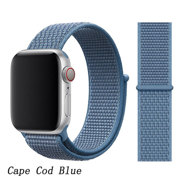 Apple Watch Band 5 Series 44mm Nylon Sport Loop Cape Cod Blue-CoolDesignOnline