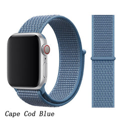 Apple Watch Band 3 Series 42mm Nylon Breathable Sport Loop Cape Cod Blue-CoolDesignOnline