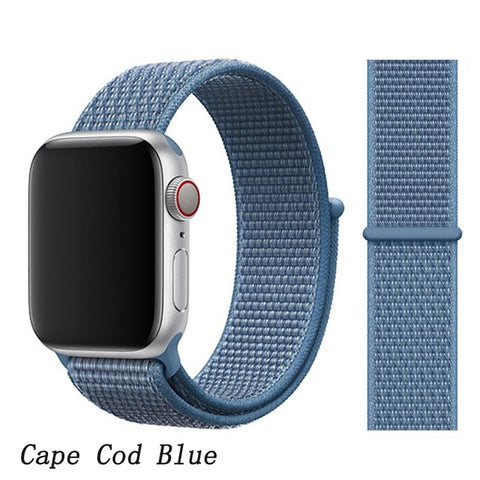 Apple Watch Band 4 Series 40mm Nylon Sport Loop Cape Cod Blue-CoolDesignOnline