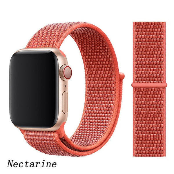 Apple Watch Band 1 Series 38mm Nylon Breathable Sport Loop Nectarine-CoolDesignOnline
