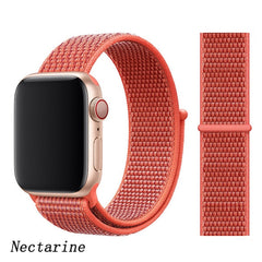 Apple Watch Band 3 Series 38mm Nylon Breathable Sport Loop Nectarine-CoolDesignOnline