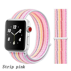 Apple Watch Band 1 Series 38mm Nylon Breathable Sport Loop Strip Pink-CoolDesignOnline