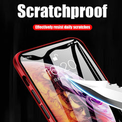 iPhone 11 Pro Max Case Metal Magnetic Tempered Glass Cover Black-CoolDesignOnline