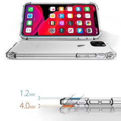 iPhone 11 Pro Case Four Corner Strengthen Clear iPhone Cover Gray-CoolDesignOnline
