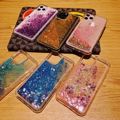 iPhone 11 Liquid Glitter Case Bling Sparkle iPhone Cover Blue-CoolDesignOnline