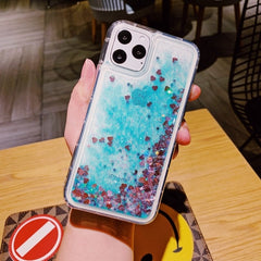 iPhone 11 Liquid Glitter Case Bling Sparkle iPhone Cover Green-CoolDesignOnline