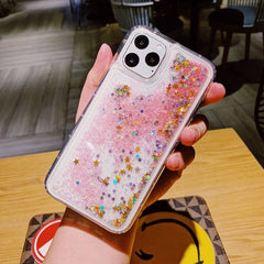 iPhone 11 Pro Max Liquid Glitter Case Bling Sparkle Cover Pink Star-CoolDesignOnline