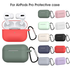 AirPods Pro Case White Silicone Case With Keychain AirPods Case-CoolDesignOnline