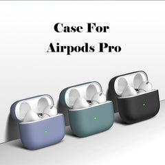 AirPods Pro Case Blue Silicone Case With Keychain AirPods Case-CoolDesignOnline