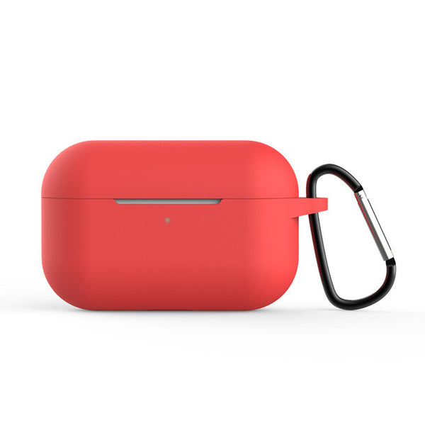 AirPods Pro Case Red Silicone Case With Keychain AirPods Case-CoolDesignOnline