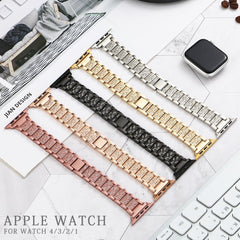 Apple Watch Band Stainless Steel Series 5 44mm Bracelet With Case Pink Gold-CoolDesignOnline