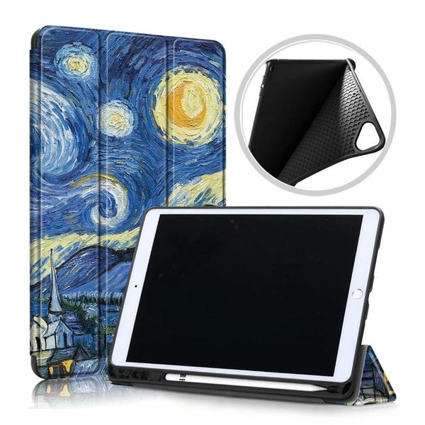 iPad 10.2 Case 2019 With Pencil Holder Soft Smart Cover XK-CoolDesignOnline