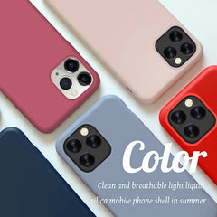 iPhone 11 Pro Max Case Solid Candy Color Liquid Coral Orange Cover-CoolDesignOnline