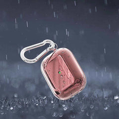 Rose Gold AirPods Pro Case Glitter Flakes Case With Keychain-CoolDesignOnline