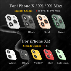 iPhone XR Case Fake Camera Lens Protector Cover Green-CoolDesignOnline