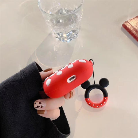 AirPods Pro Case Cute Minnie Cartoon AirPods Cover With Keychain-CoolDesignOnline