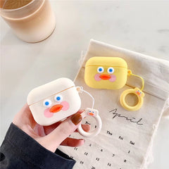 AirPods Pro Case Yellow Dududuck Cartoon AirPods Cover With Keychain-CoolDesignOnline