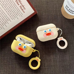 AirPods Pro Case Pink Dududuck Cartoon AirPods Cover With Keychain-CoolDesignOnline