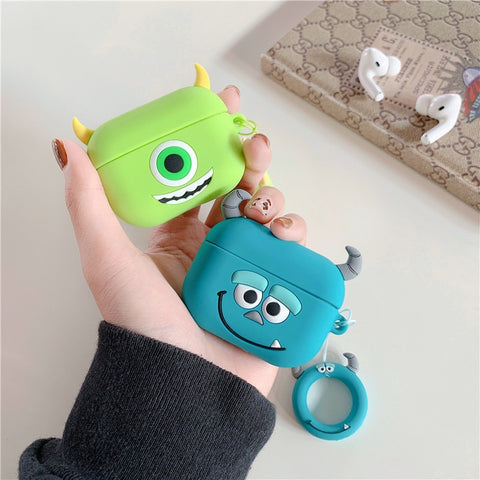 AirPods Pro Case Monster Inc Mike Cartoon AirPods Cover With Keychain-CoolDesignOnline