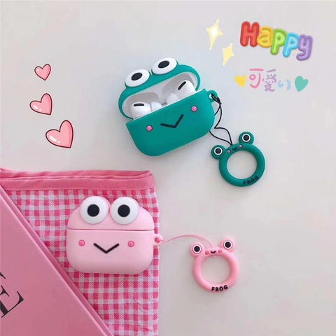 AirPods Pro Case Kerokerokeroppi Cartoon AirPods Cover With Keychain-CoolDesignOnline
