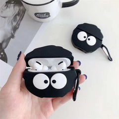 AirPods Pro Case Cute Black Coal Cartoon AirPods Cover With Keychain-CoolDesignOnline