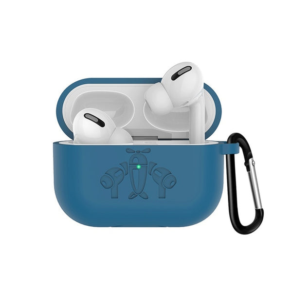 AirPods Pro Case With Keychain Protective AirPods Case Dark Blue 3-CoolDesignOnline
