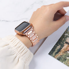 Apple Watch Band Stainless Steel Series 3 42mm Bracelet Pink Gold-CoolDesignOnline