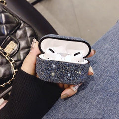 AirPods Pro Case Glitter Bling Crystal Sequins AirPods Cover Black-CoolDesignOnline