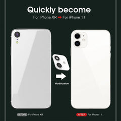 iPhone XR Case Fake Camera Lens Protector Cover White-CoolDesignOnline