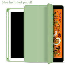 iPad mini 5 Case With Pencil Holder Leather Silicone Smart Cover Green-CoolDesignOnline