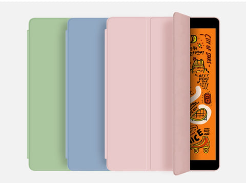 iPad mini 5 Case With Pencil Holder Leather Silicone Smart Cover Lavender-CoolDesignOnline