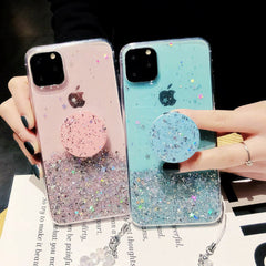 iPhone 11 Pro Max Case Glitter Bling With Stand Holder Cover Transparent-CoolDesignOnline