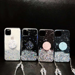iPhone 11 Pro Max Case Glitter Bling With Stand Holder Cover Black-CoolDesignOnline