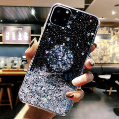 iPhone 11 Pro Case Glitter Bling With Stand Holder iPhone Cover Black-CoolDesignOnline