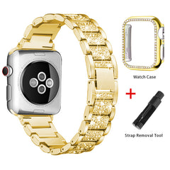 Apple Watch Band Stainless Steel Series 3 42mm Bracelet With Case Gold-CoolDesignOnline