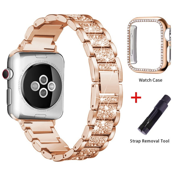 Apple Watch Band Stainless Steel Series 4 40mm Bracelet With Case Rose Gold-CoolDesignOnline