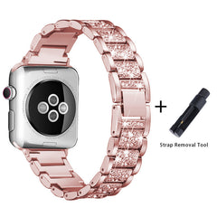 Apple Watch Band Stainless Steel Series 2 42mm Bracelet Pink Gold-CoolDesignOnline