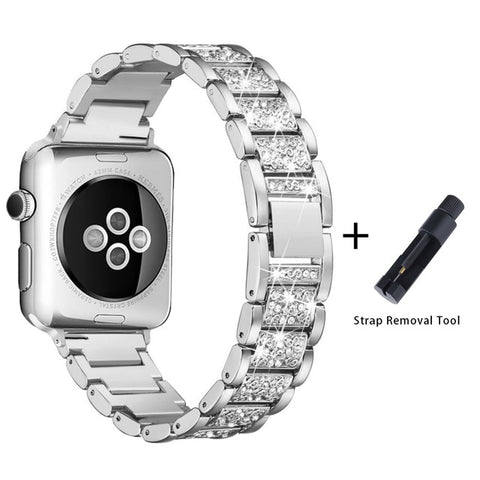 Apple Watch Band Stainless Steel Series 5 40mm Luxury Bracelet Silver-CoolDesignOnline