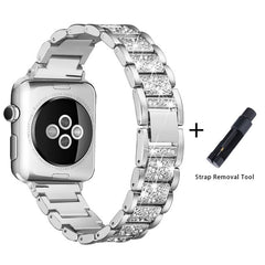Apple Watch Band Stainless Steel Series 3 38mm Luxury Bracelet Silver-CoolDesignOnline