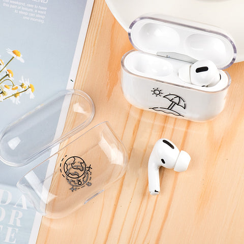 AirPods Pro Cases Cute Cartoon Pattern Transparent AirPods Cover 05-CoolDesignOnline